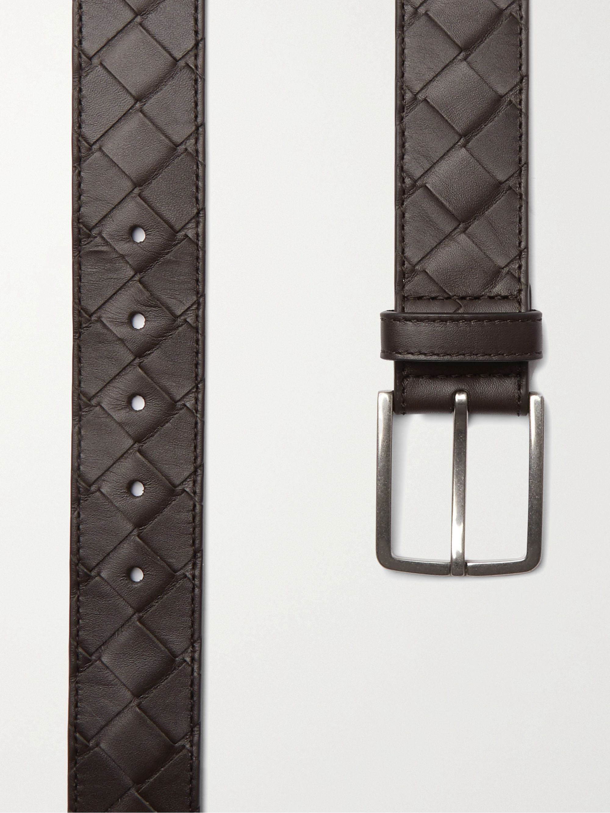 Bottega Veneta 3.5cm Intrecciato Leather Belt