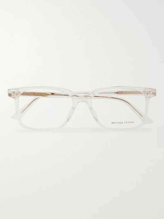Bottega Veneta D-Frame Acetate and Gold-Tone Optical Glasses