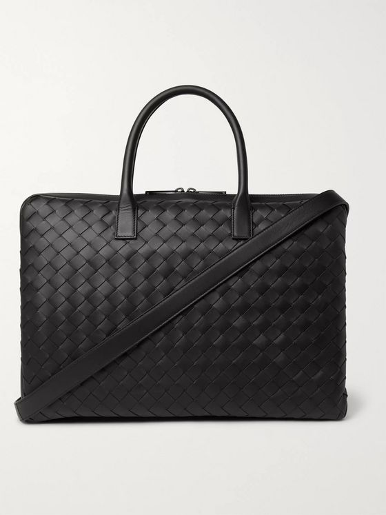 BOTTEGA VENETA Intrecciato Leather Briefcase