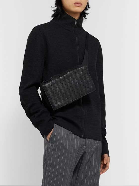 Bottega Veneta Intrecciato Leather-Panelled Shell Belt Bag