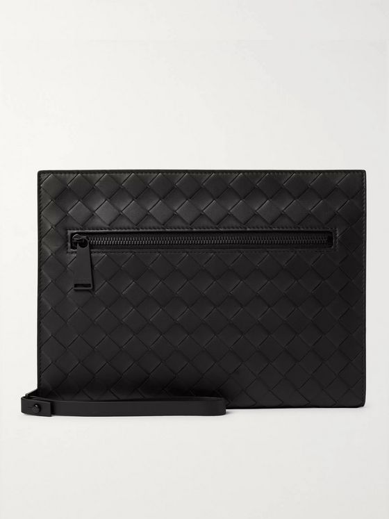 Bottega Veneta Small Intrecciato Leather Pouch