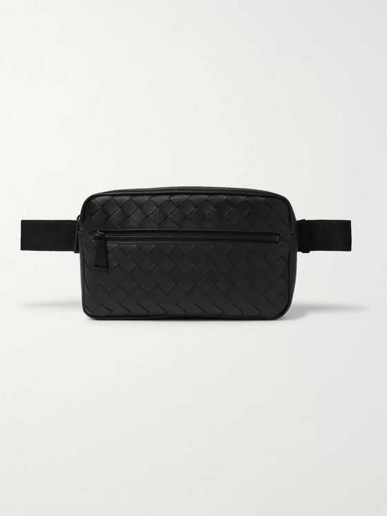 Bottega Veneta Canvas-Trimmed Intrecciato Leather Belt Bag