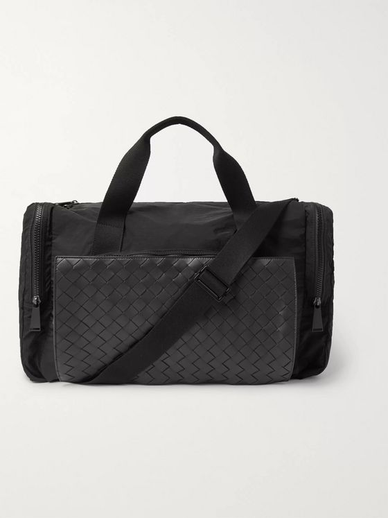 Bottega Veneta Nylon and Intrecciato Leather Duffle Bag