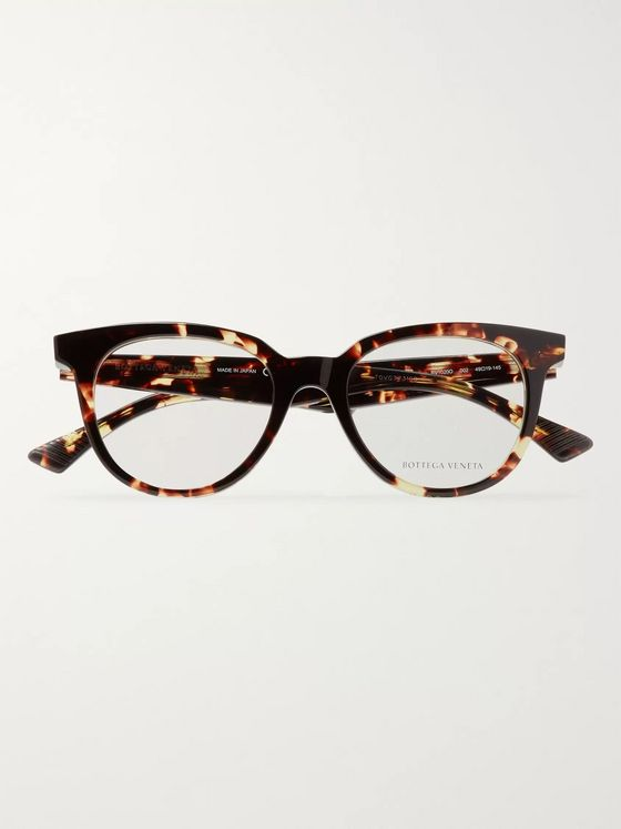 Bottega Veneta D-Frame Tortoiseshell Acetate Optical Glasses