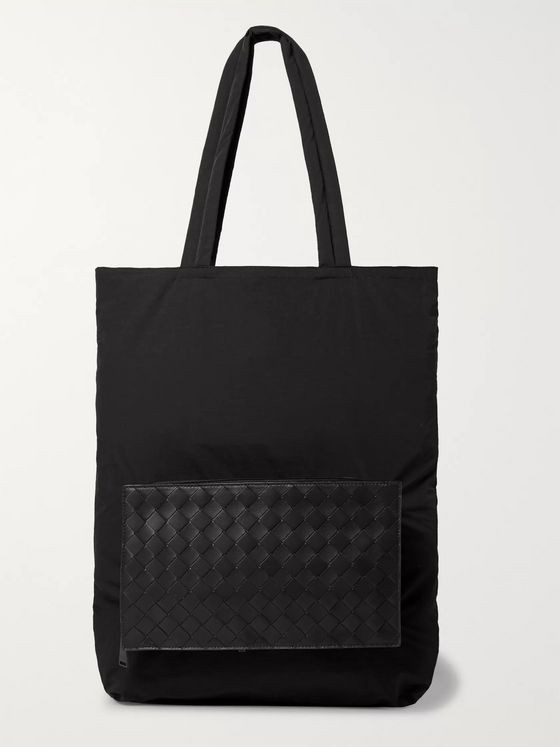 Bottega Veneta Nylon and Intrecciato Leather Tote