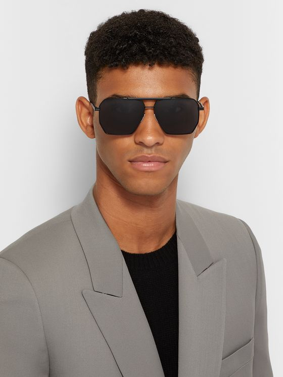 Bottega Veneta Aviator-Style Metal Sunglasses