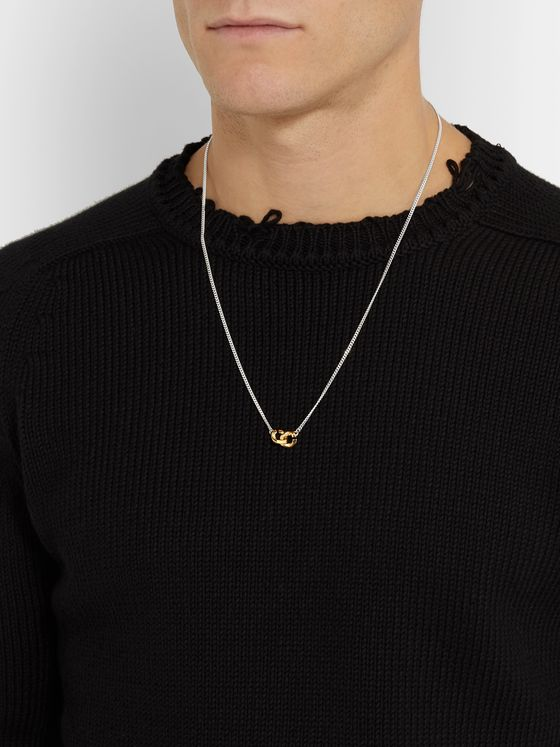 Bunney Sterling Silver and 18-Karat Gold Chain