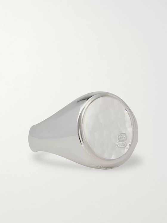 Bunney Hammered Sterling Silver Signet Ring