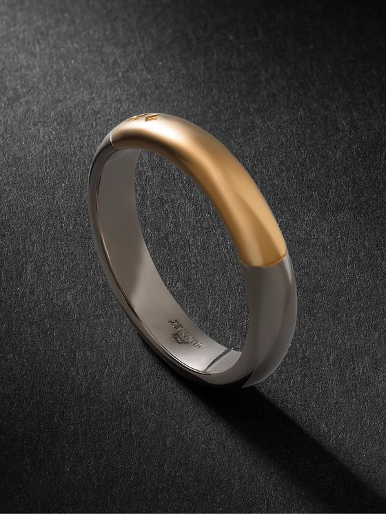 Bunney 18-Karat White and Yellow Gold Ring