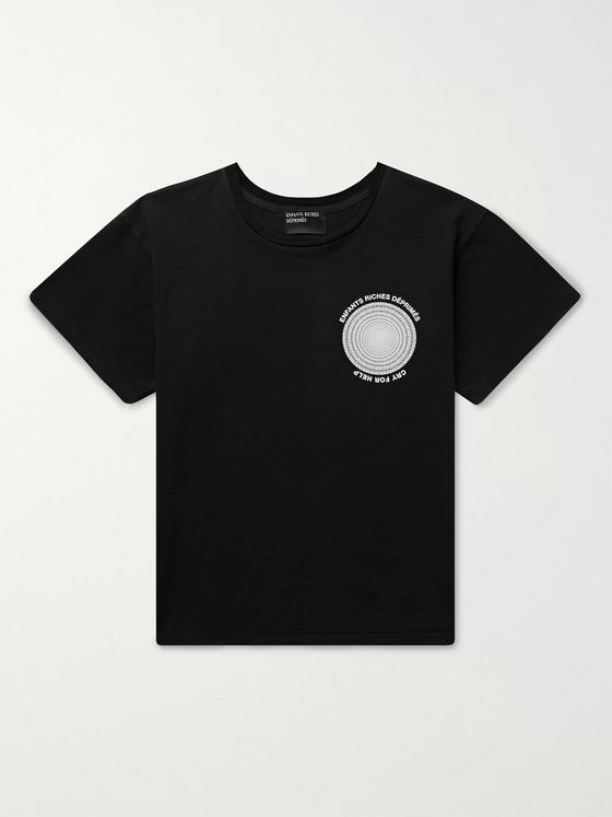 Enfants Riches Déprimés Logo-Print Cotton-Jersey T-Shirt