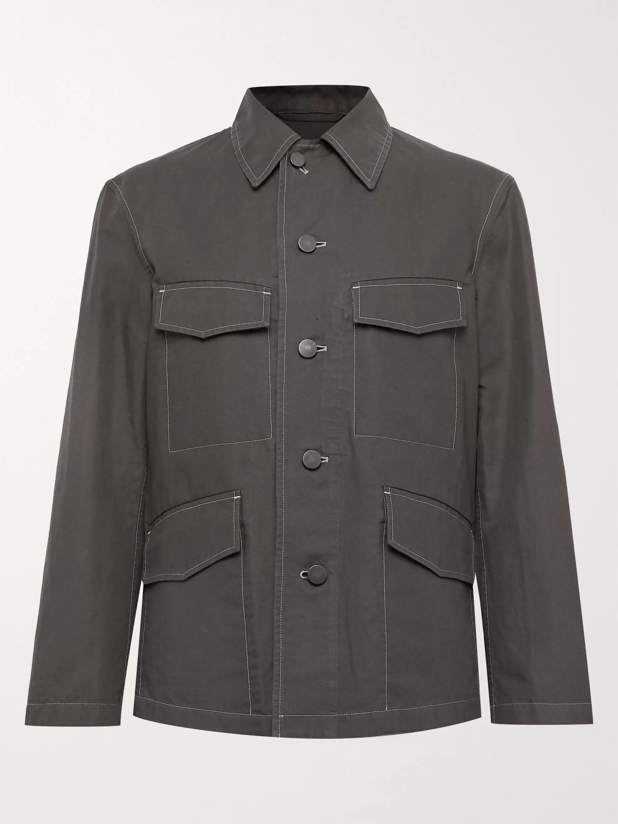 Lemaire Cotton and Linen-Blend Canvas Field Jacket
