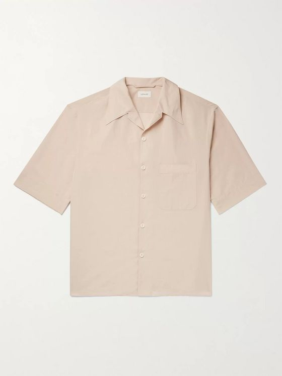 Lemaire Camp-Collar Printed Voile Shirt