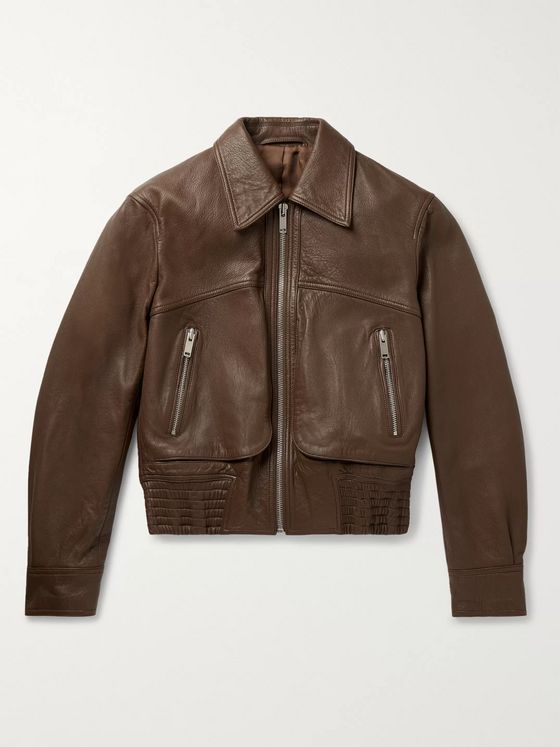 Lemaire Cropped Leather Blouson Jacket