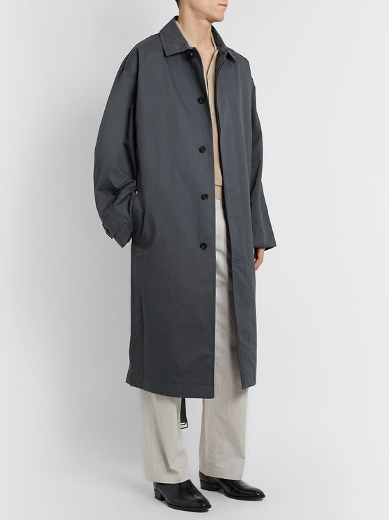 Lemaire Cotton-Blend Gabardine Trench Coat