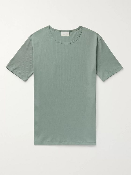 Lemaire Ribbed Organic Cotton-Blend T-Shirt