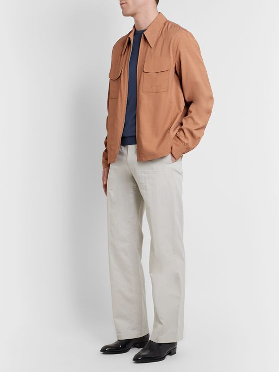 Lemaire Woven Zip-Up Shirt