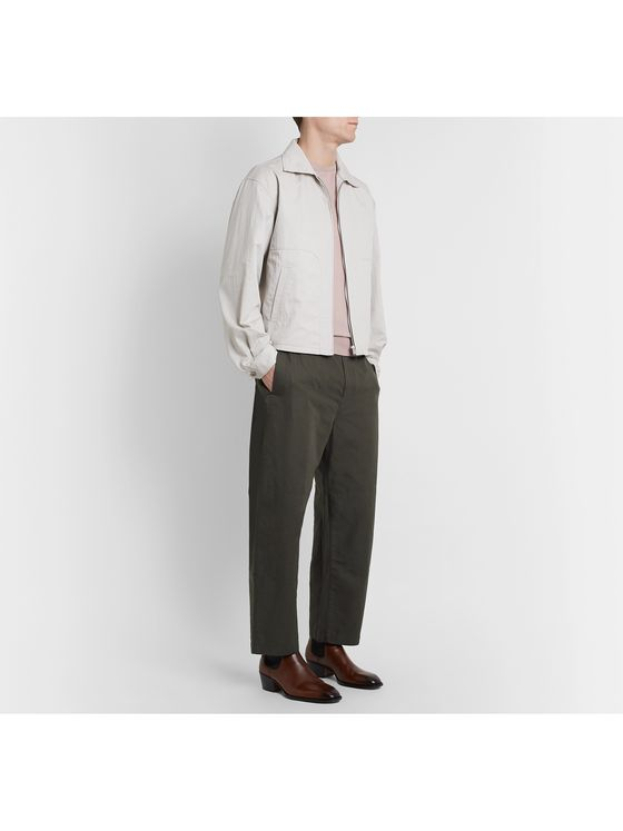 Lemaire Cropped Cotton and Linen-Blend Trousers