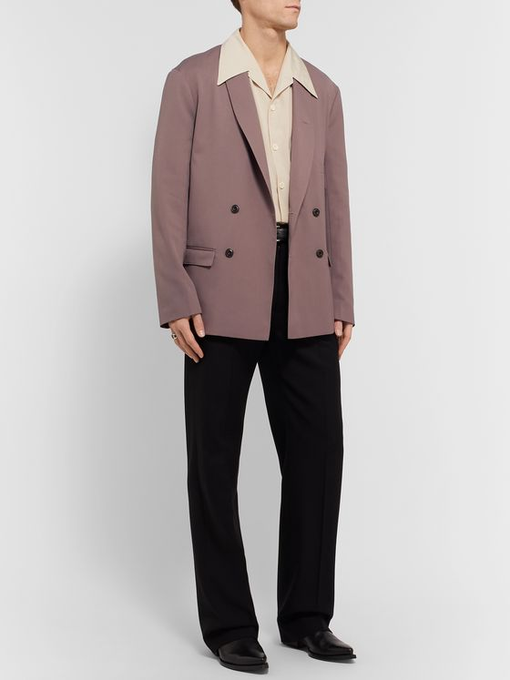 Lemaire Mushroom Double-Breasted Twill Blazer