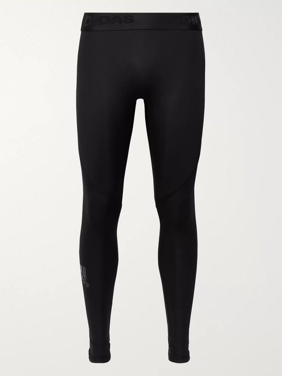 Adidas Sport Alphaskin Mesh-Panelled Climacool Compression Tights