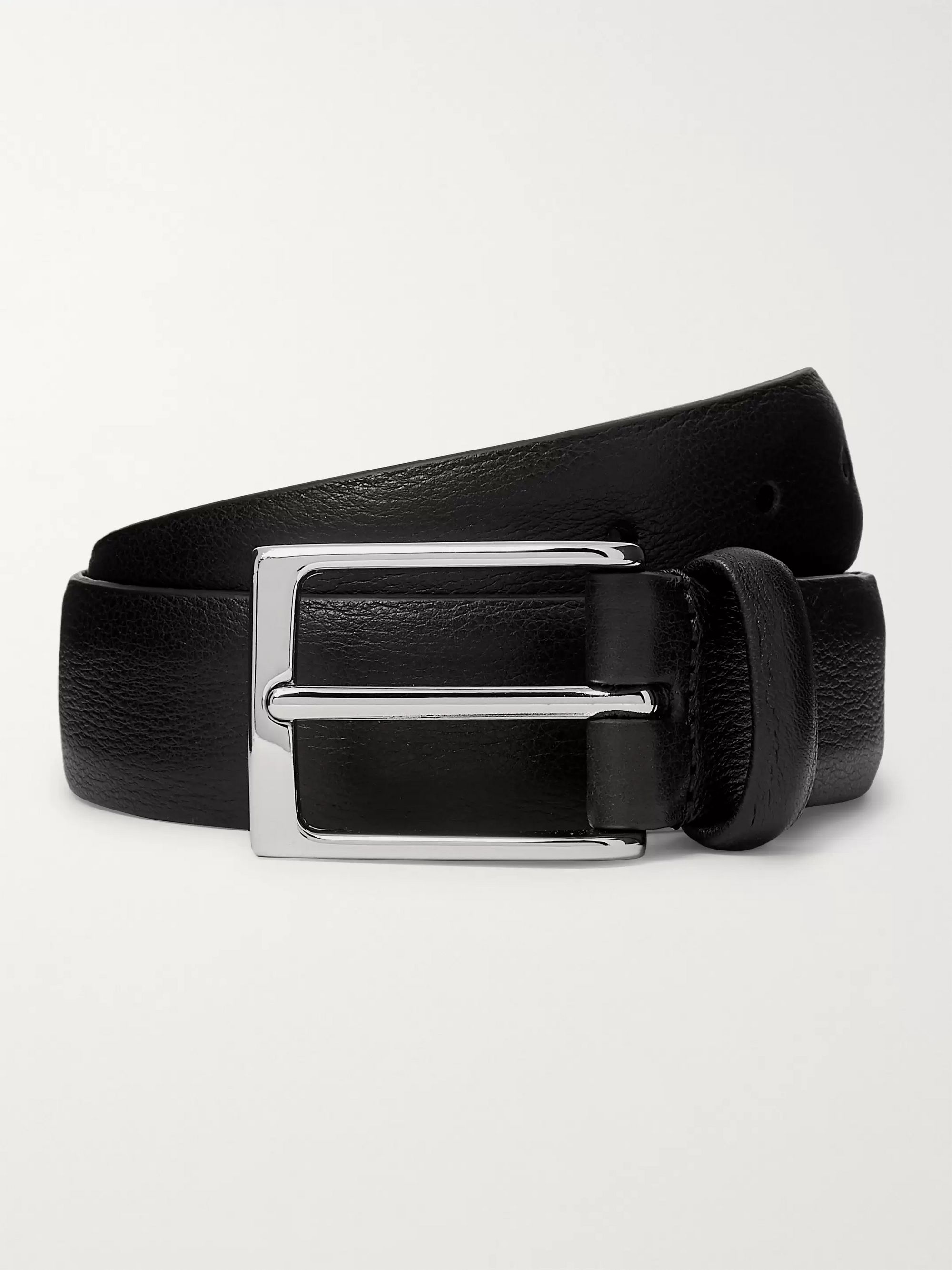 Anderson's 3cm Black Full-Grain Leather Belt