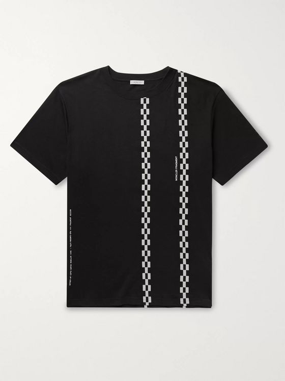 Moncler Genius 7 Moncler Fragment Flocked Logo-Print Cotton-Jersey T-Shirt