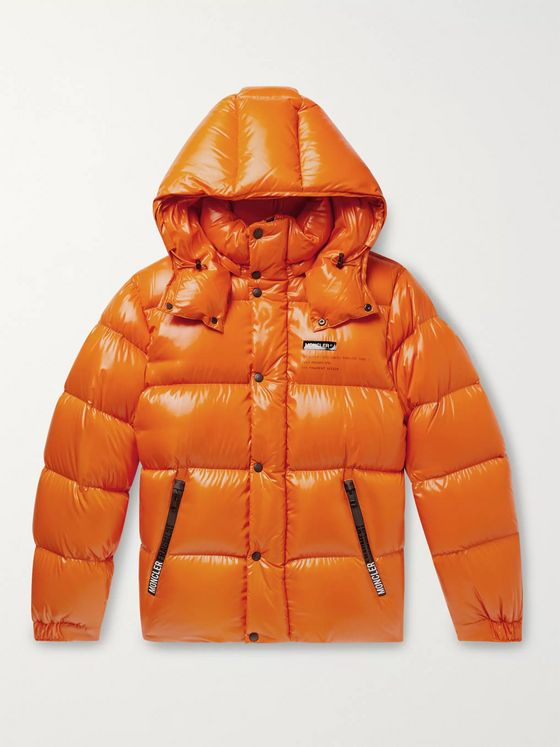 Moncler Genius 7 Moncler Fragment Hanriot Quilted Nylon Hooded Down Jacket