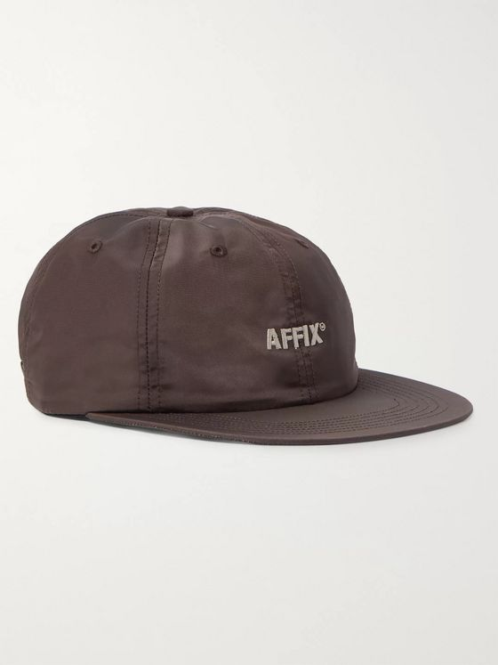 AFFIX Logo-Embroidered Shell Baseball Cap