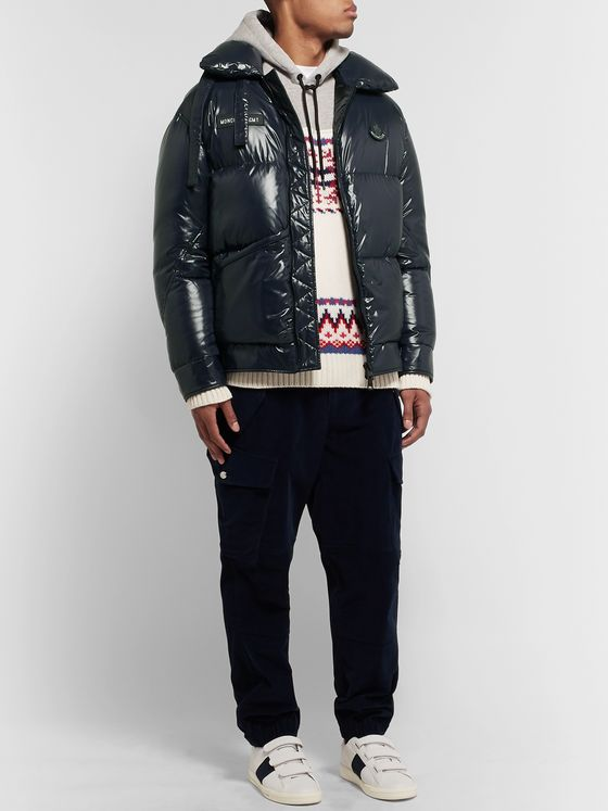 Moncler Genius 7 Moncler Fragment Viggen Logo-Appliquéd Quilted Shell Down Jacket