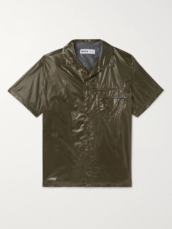 AFFIX Technical Camp-Collar Ripstop Shirt