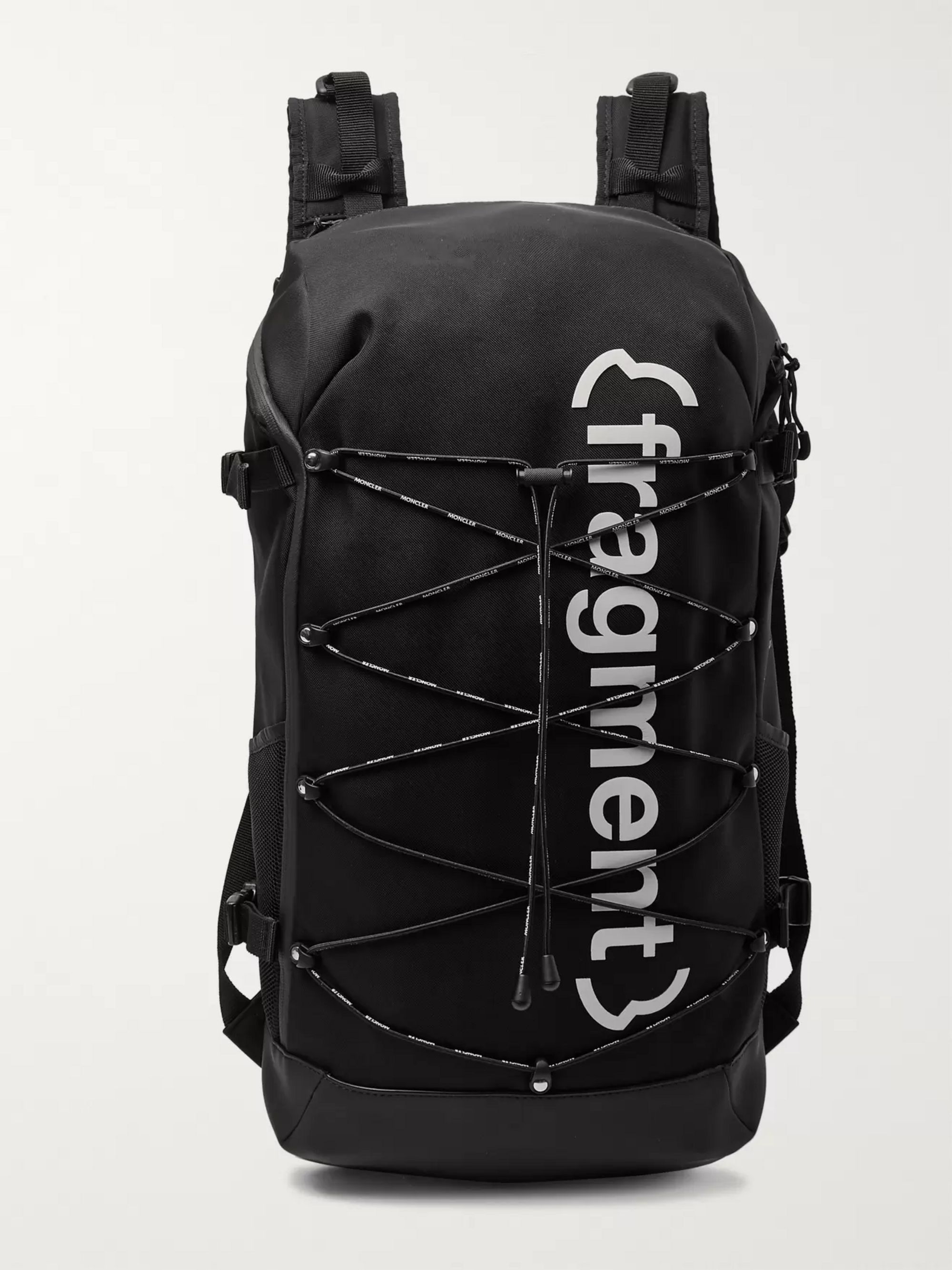 Moncler Genius 7 Moncler Fragment Printed Shell and Neoprene Backpack
