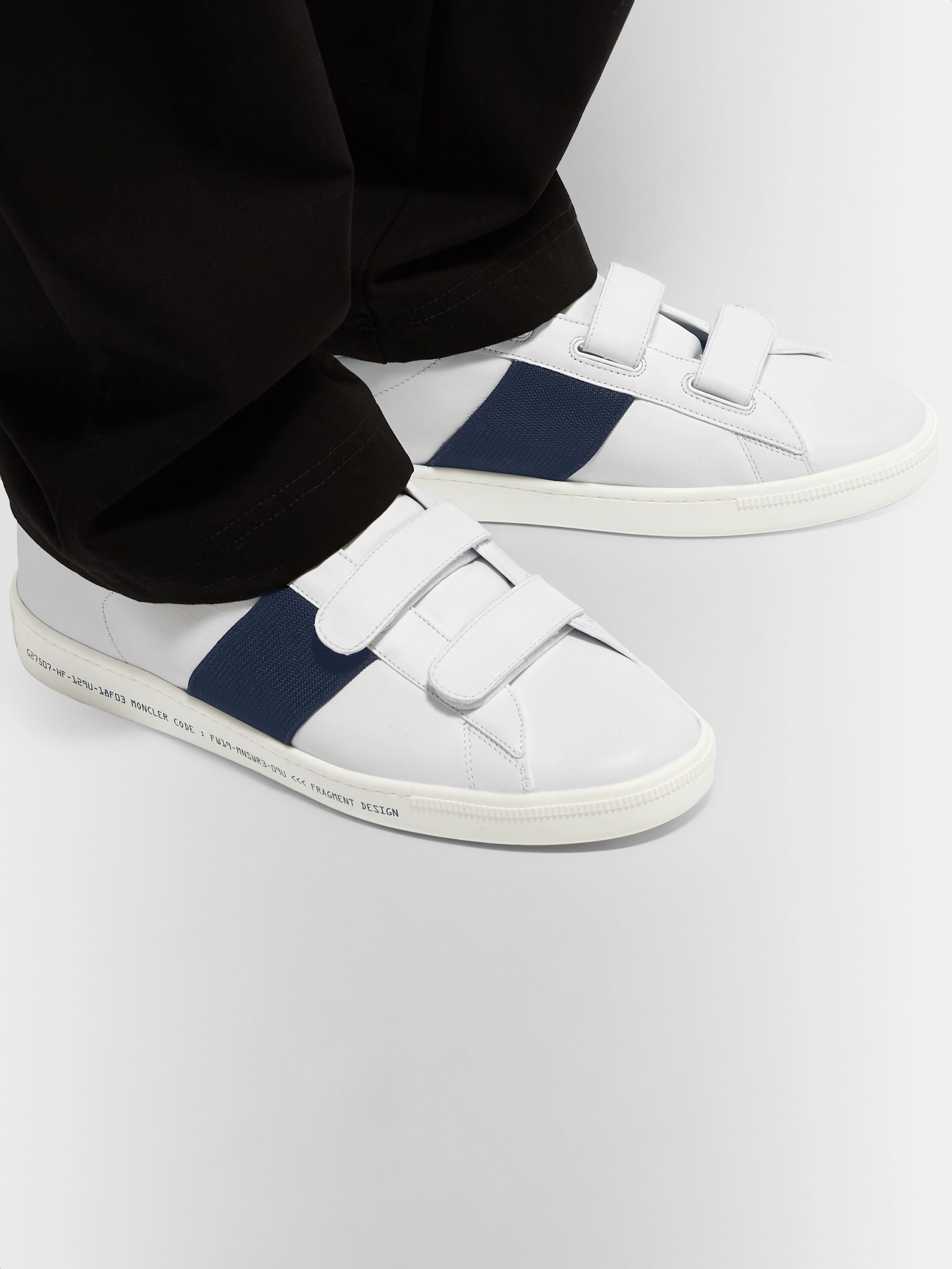 Moncler Genius 7 Moncler Fragment Webbing-Trimmed Leather Sneakers