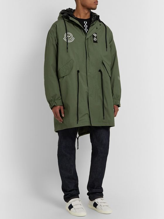 Moncler Genius 7 Moncler Fragment Fulcrum Washed-Cotton Hooded Down Jacket