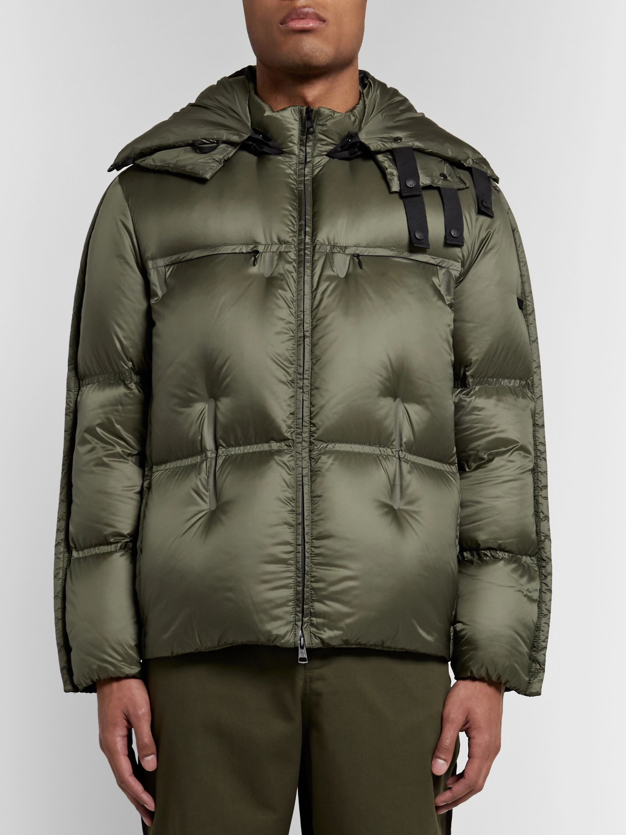 Moncler Genius 5 Moncler Craig Green Coolidge Colour-Block Quilted Shell Hooded Down Jacket