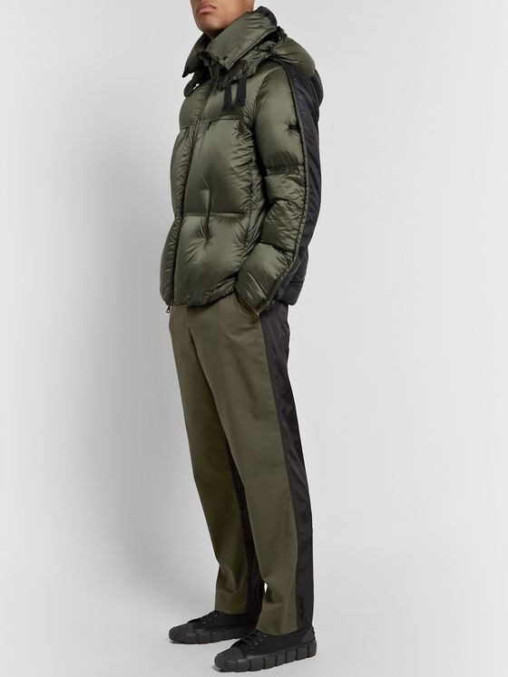 Moncler Genius 5 Moncler Craig Green Maher Colour-Block Quilted Shell Hooded Down Jacket
