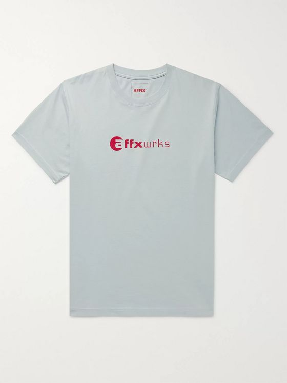 AFFIX Logo-Flocked Cotton-Jersey T-Shirt