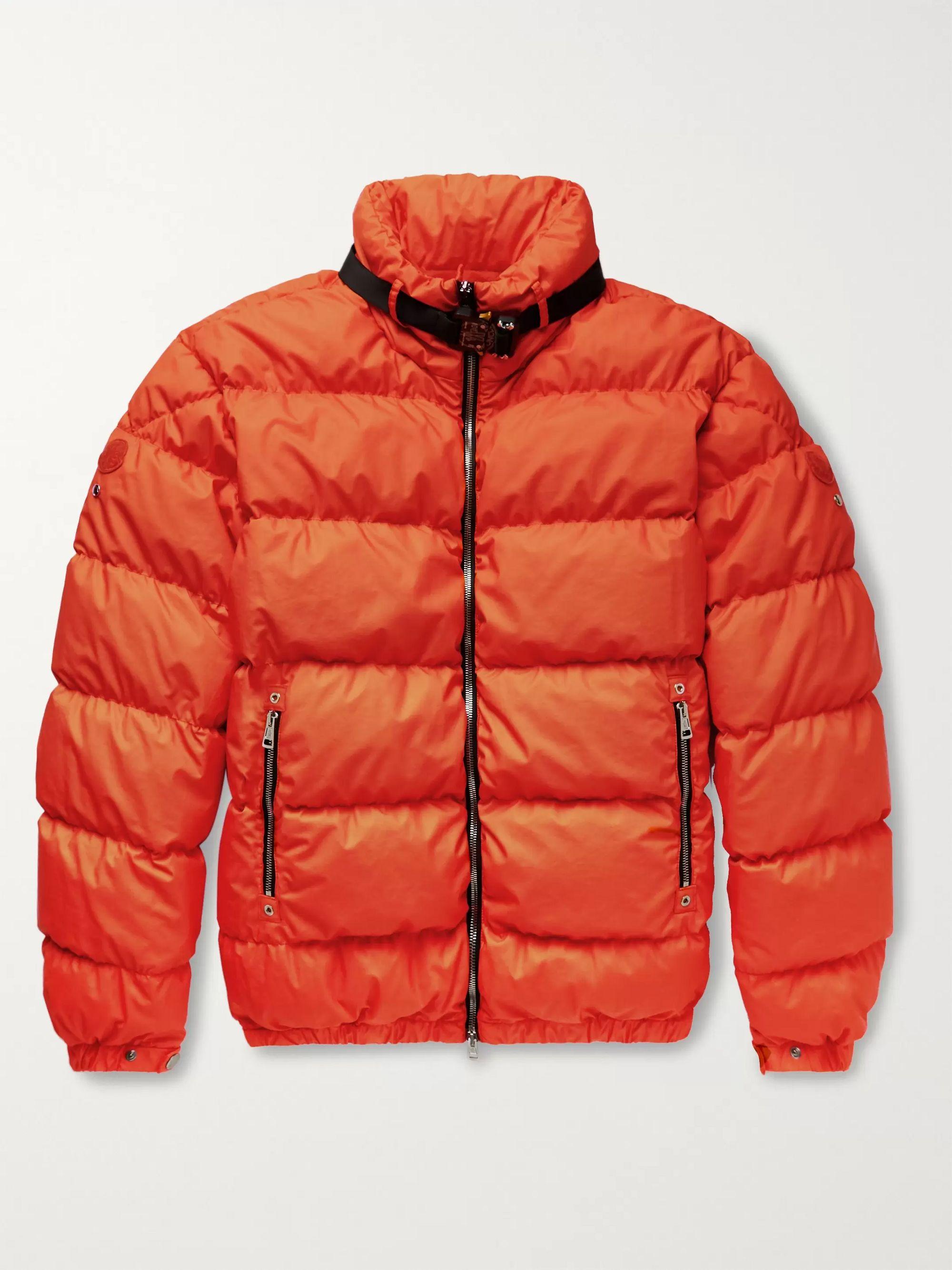몽클레어 Moncler Genius Bright orange 6 몽클레어 Moncler 1017 ALYX 9SM Quilted Coated-Cotton Down Jacket,Bright orange