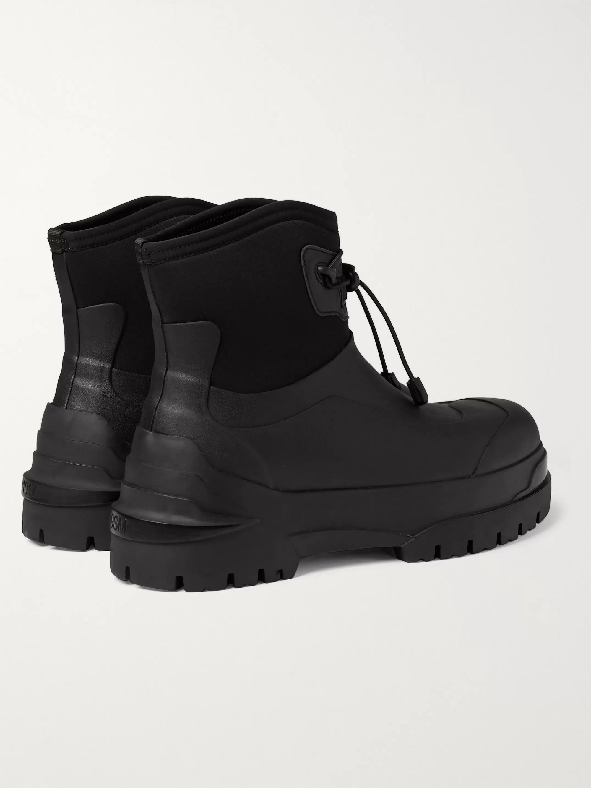 Moncler Genius 6 Moncler 1017 ALYX 9SM Leather-Trimmed Rubber and Neoprene Boots