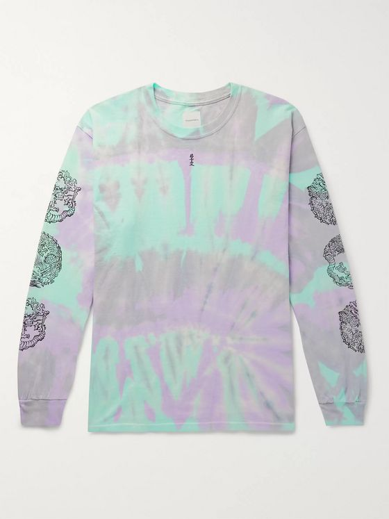 Sasquatchfabrix. Printed Tie-Dyed Cotton-Jersey T-Shirt