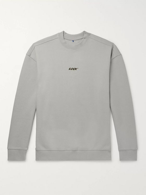 Ader Error Oversized Logo-Print Cotton-Blend Piqué Sweatshirt