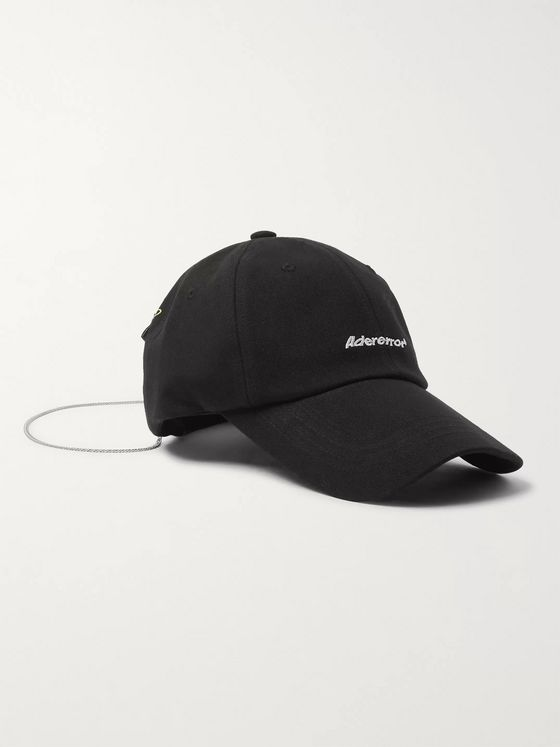 Ader Error Chain-Embellished Logo-Embroidered Cotton-Blend Twill Baseball Cap