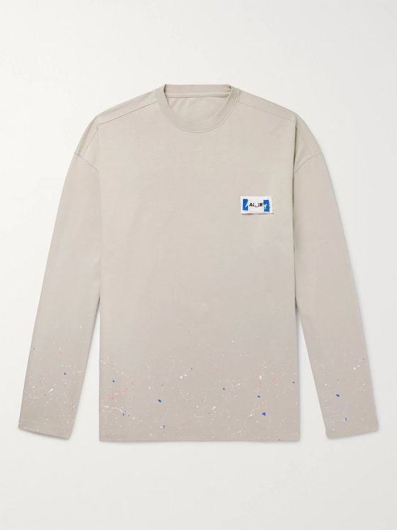 Ader Error Oversized Logo-Appliquéd Paint-Splattered Cotton-Jersey T-Shirt