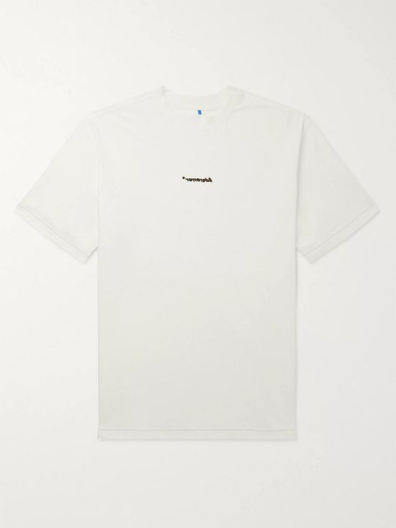 Ader Error Oversized Logo-Embroidered Cotton-Jersey T-Shirt