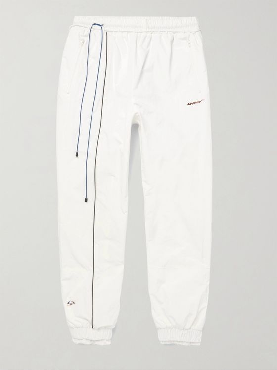 Ader Error Tapered Logo-Print Shell Track Pants