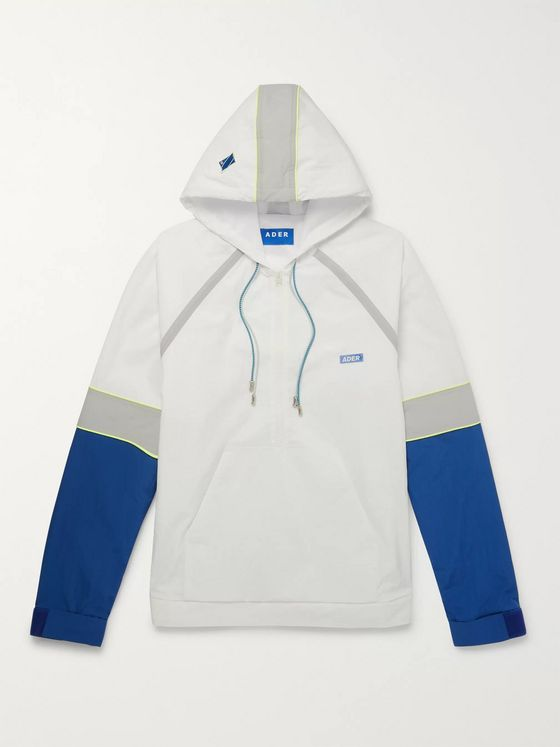 Ader Error Colour-Block Nylon Half-Zip Hoodie