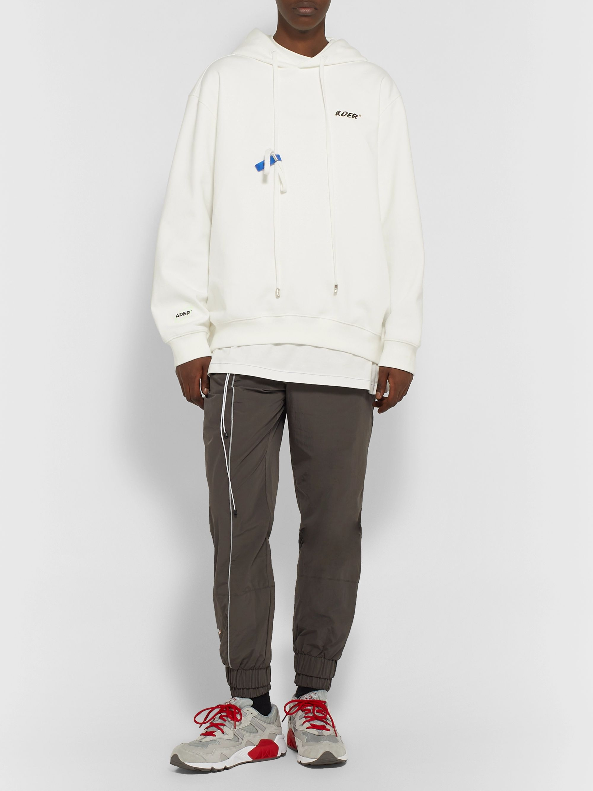 Ader Error Logo-Appliquéd Cotton-Blend Jersey Hoodie