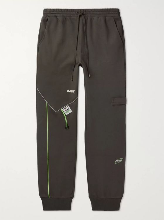 Ader Error Logo-Appliquéd Cotton-Blend Jersey Sweatpants