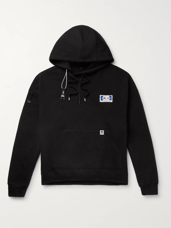 Ader Error Logo-Appliquéd Cotton-Jersey Hoodie