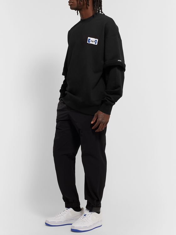 Ader Error Oversized Layered Logo-Appliquéd Loopback Cotton-Jersey Sweatshirt