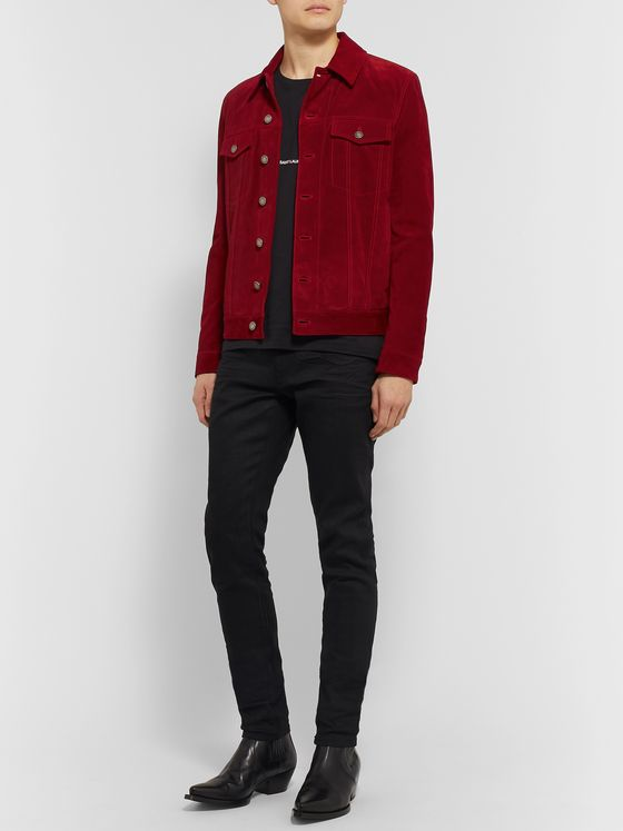 SAINT LAURENT Suede Trucker Jacket