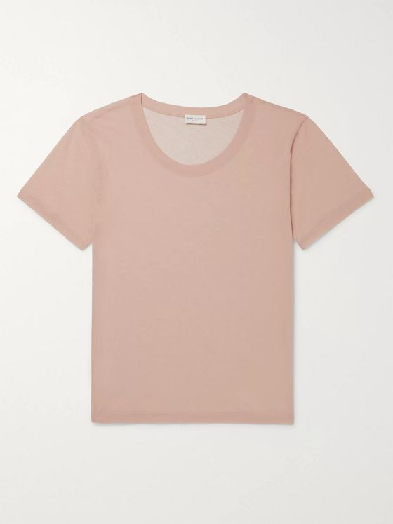 SAINT LAURENT Cotton-Gauze T-Shirt